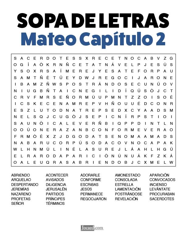 Sopa de Letras - Mateo Cápitulo 2