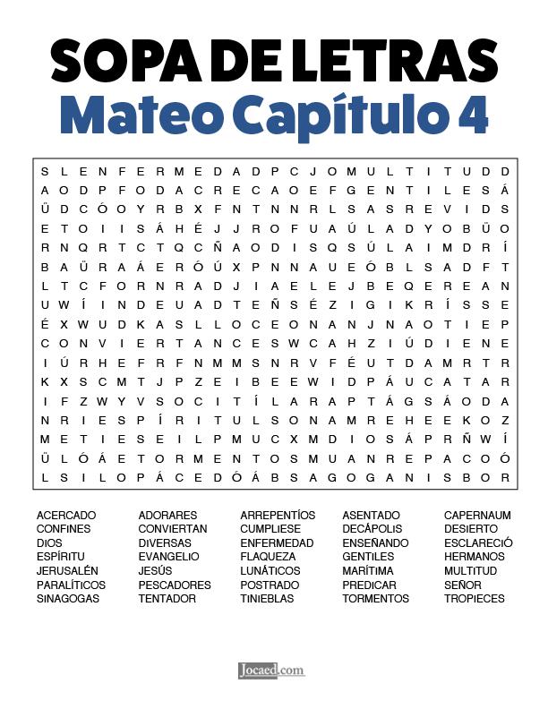 Sopa de Letras - Mateo Cápitulo 4