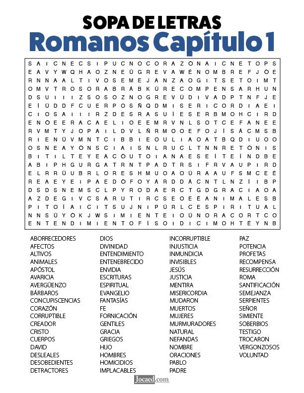 Sopa de Letras - Romanos Cápitulo 1