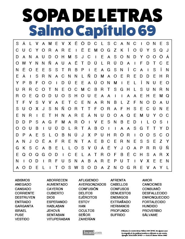 Sopa de Letras - Salmos Cápitulo 69
