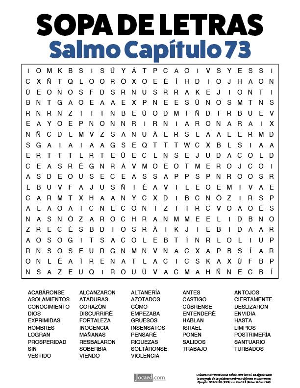 Sopa de Letras - Salmos Cápitulo 73